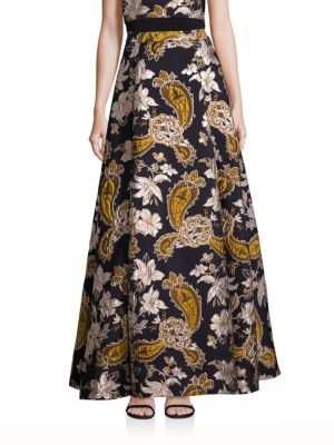 Rachele Paisley Printed Long Skirt plus size,  plus size fashion plus size appare