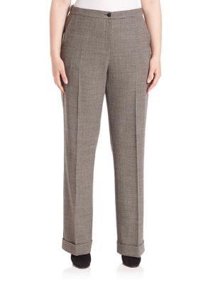 Ramo Bi-Stretch Wool Pants plus size,  plus size fashion plus size appare