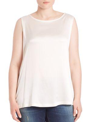 Balzo Sleeveless Satin Tank Top plus size,  plus size fashion plus size appare