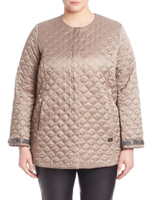 Reversible Quilted Jacket plus size,  plus size fashion plus size appare