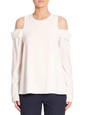 Savanna Solid Cold Shoulder Top