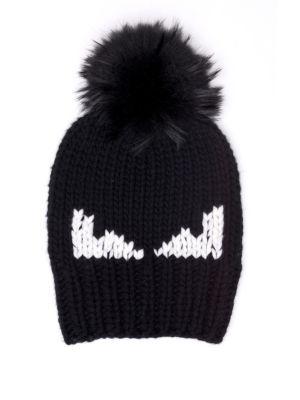 Monster Fur Pom Wool Hat by Fendi