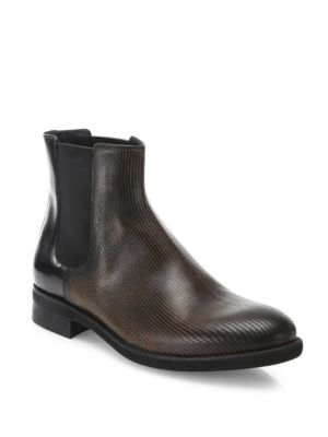 Laser Cut Chelsea Boots