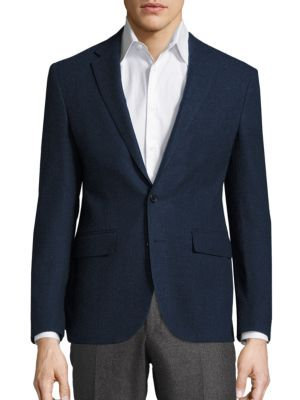 Long Sleeve Wool Blazer