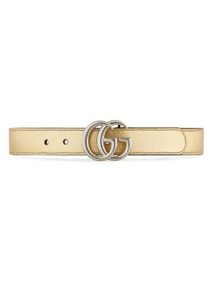 gucci girls 186518 girls metallic gg belt