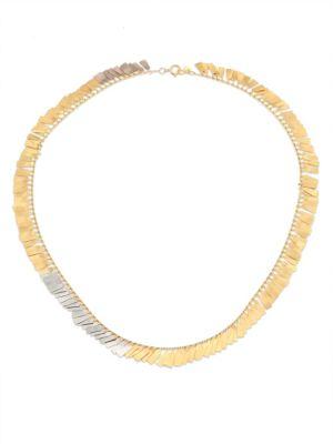 SIA TAYLOR Fringe 18K Yellow & White Gold Necklace
