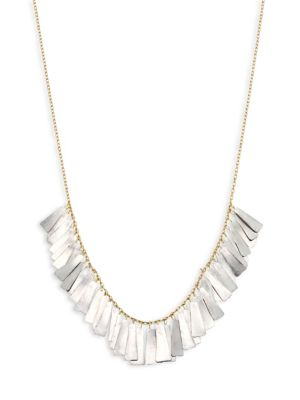 SIA TAYLOR Feather 18K Yellow Gold & Platinum Necklace