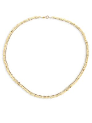 Full Dots 18K Yellow Gold Necklace
