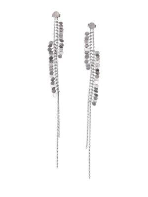 SIA TAYLOR Dots Sterling Silver Drop Earrings