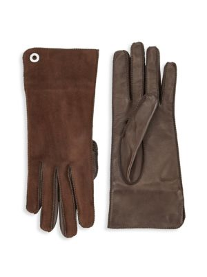 Guanto Jacqueline Leather & Suede Gloves