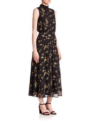 Sleeveless Ruffled Neck Dress