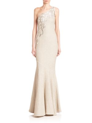 Embroidered Mermaid Gown