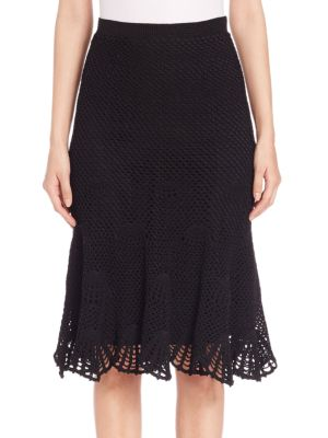 Silk Blend Lace Skirt