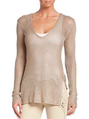 Split Side Knit Sweater