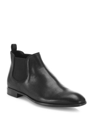 Leather Slip-On Chelsea Boots