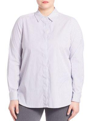 Sport Striped Shirt plus size,  plus size fashion plus size appare