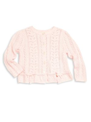 Baby's Pointelle Knit Cardigan