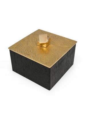 Lustre Oak Jewelry Box