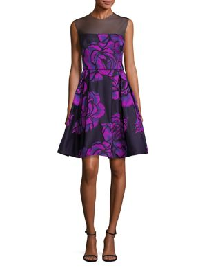 Gigi Floral-Print Cocktail Dress