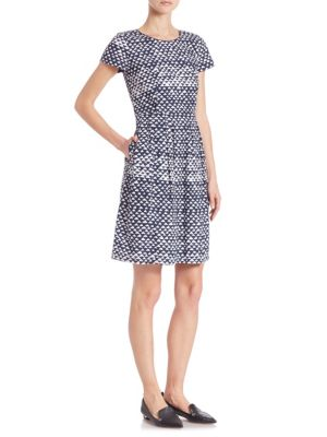 Gina Printed Fit-&-Flare Dress