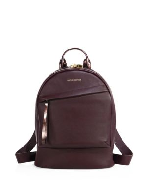 want les essentiels female 188969 mini piper leather backpack
