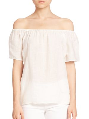 Amesti Off-The-Shoulder Linen Top