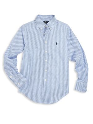 Toddler's, Little Boy's & Boy's Striped Button-Front Shirt
