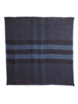 BURBERRY Striped Square Scarf