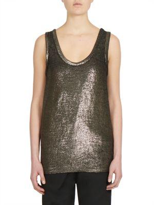 Sleeveless Linen Blend Top by Ann Demeulemeester