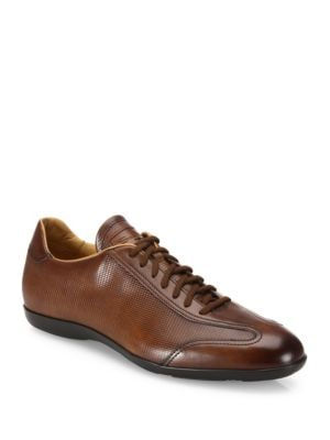 Textured Leather Oxfords