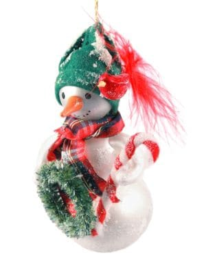 Handblown Snowman Ornament