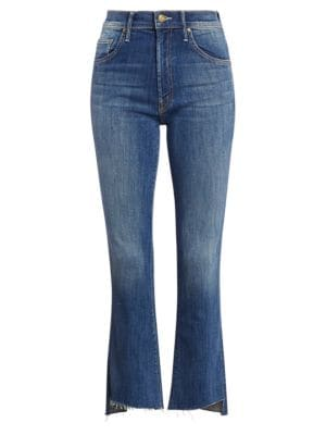 Insider Cropped Raw-Edge Jeans