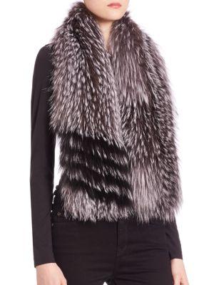THE FUR SALON Fox Fur Scarf