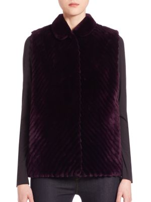 THE FUR SALON Reversible Fur Vest