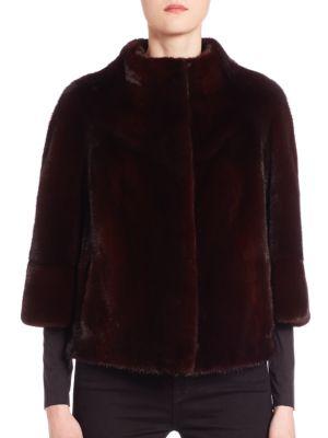 Cropped Mink Fur Jacket by The Fur Salon
