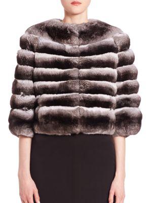 THE FUR SALON Chinchilla Fur Bolero