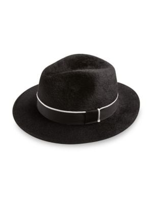 BARBISIO Felt Ribbed Fedora