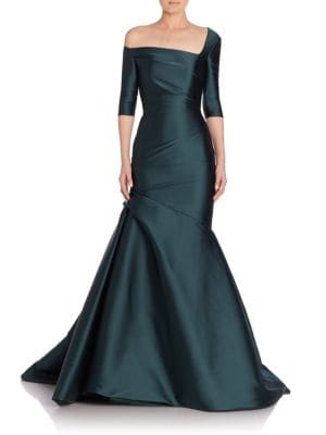Three-Quarter Sleeve Trumpet Gown