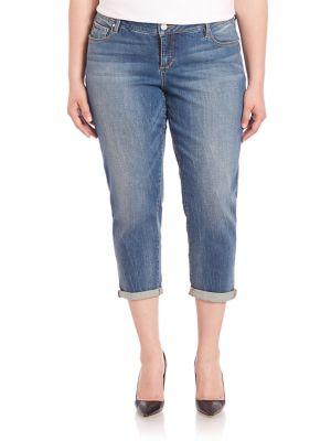 Rolled Hem Cropped Jeans