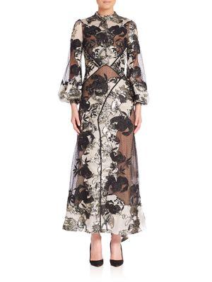Briana Floral Jacquard Dress