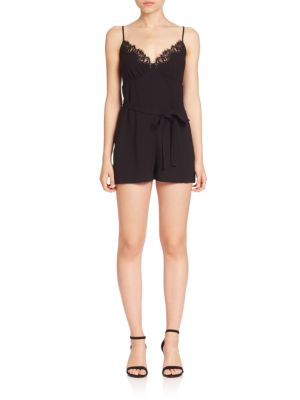 Lace-Trimmed Romper
