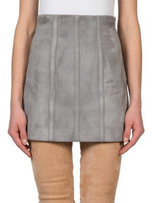 Suede Corset Skirt