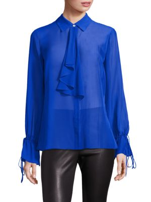 COLLECTION Tie-Neck Blouse by Saks Fifth Avenue