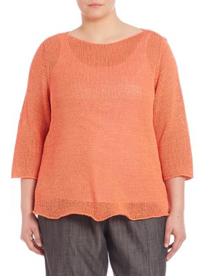 Cotton Boatneck Sweater plus size,  plus size fashion plus size appare
