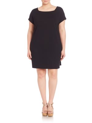 Squareneck T-Shirt Dress plus size,  plus size fashion plus size appare