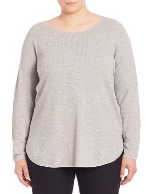 Organic Cotton & Cashmere Sweater plus size,  plus size fashion plus size appare
