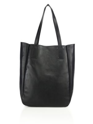 Bond Reversible Leather & Suede Tote