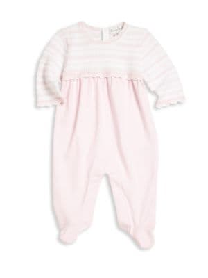 Baby's Scalloped Pima Cotton Blend Footie