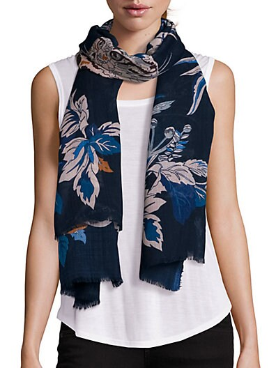 Stella McCartney Large Floral Scarf