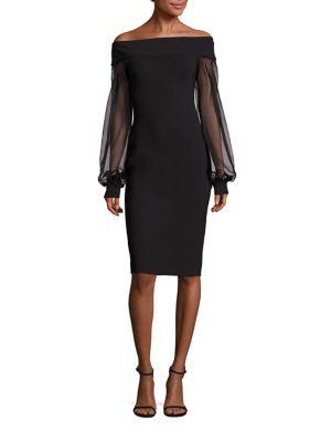 Nicole Bishop Sleeve Off-The-Shoulder Dress